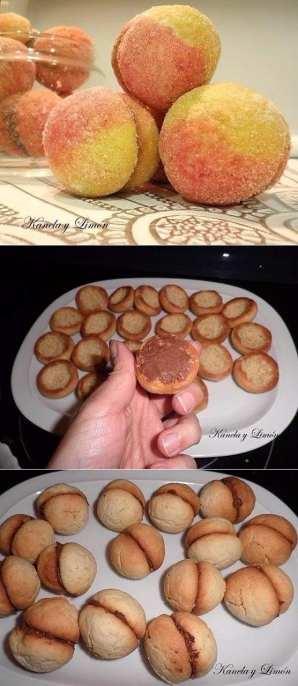 """Просто царь выпечки! Пирожное """"Персики"""". Минутный рецептик!  Гостей не оттянуть от такого вкусной вкусняшки."""