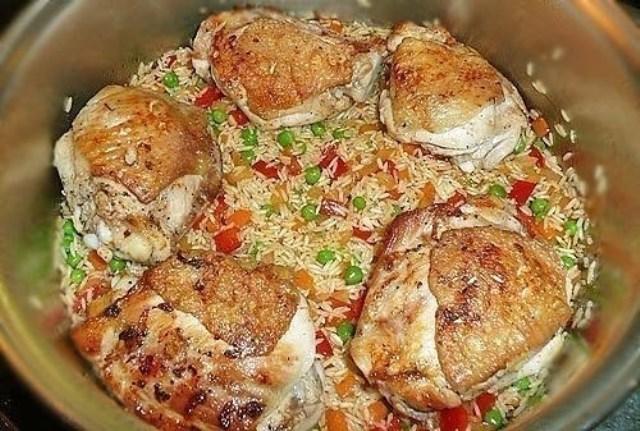 Рис с курицей - Arroz con pollo. Делаю частенько! Моим очень нравится!