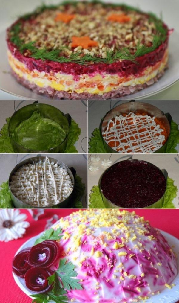 Слоеный салат «Король в гневе» готовлю на праздники вместо шубы - еда для настоящих мужчин.