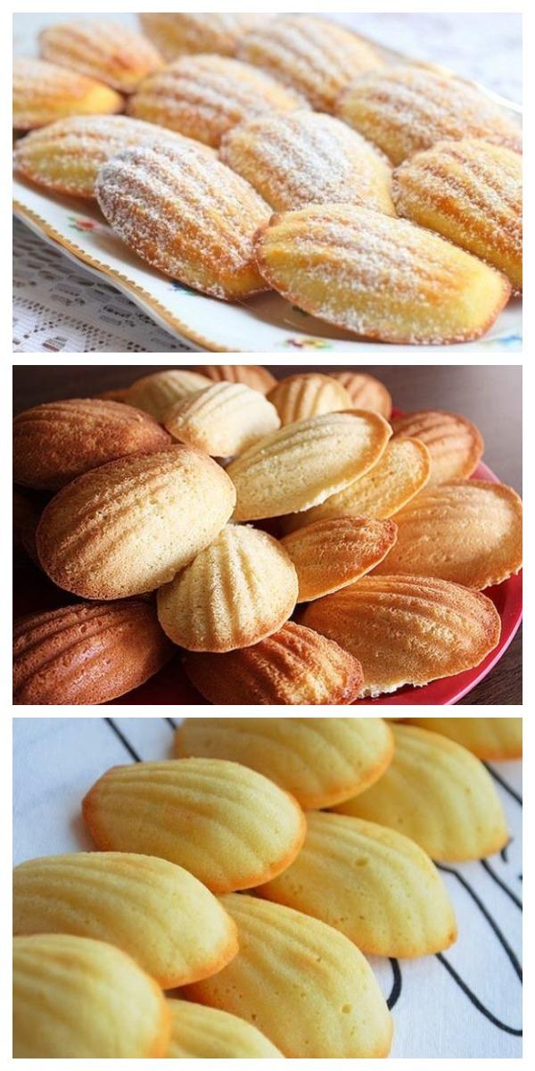 """Французское бисквитное печенье """"Мадлен"""" от Пьера Эрме. Хрустящая корочка и нежная бисквитная серединка. Готовится быстро и просто."""