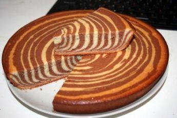 """Как испечь вкусный и красивый пирог """"Зебра"""""""