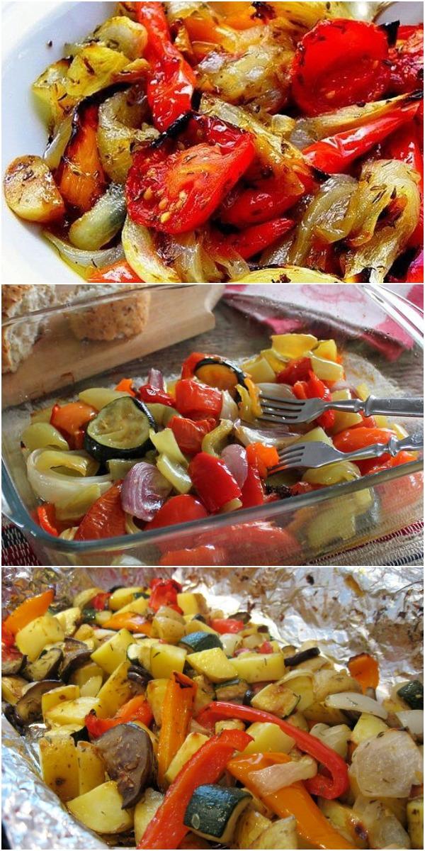 Овощи, запечённые в маринаде, фантастически вкусно!