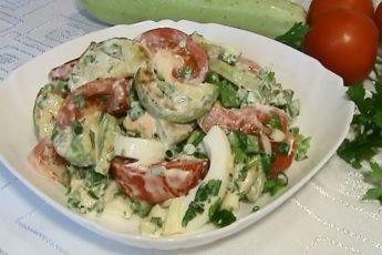 Салат с жареными кабачками - будете делать снова и снова