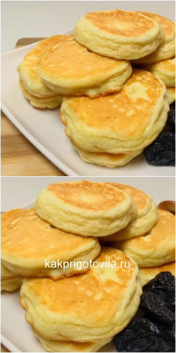 Это совсем не оладьи, а бисквиты на сковороде. Еще вкуснее обычных из духовки
