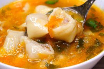 Вкусный суп с мясными рулетиками, ну просто невозможно пройти мимо