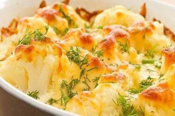 Цветная капуста, запеченная с сыром