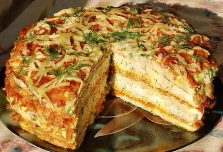 Тортик из кабачков на закуску