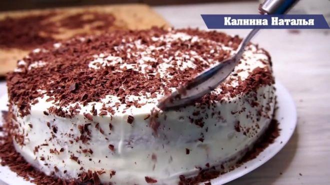 Обалденный тортик за 20мин при минимуме продуктов! Готовится просто!