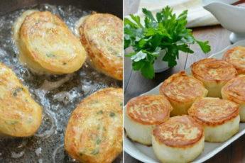 Горячие рулетики из лаваша с картофелем и грибами: закуска, которую расхваливают больше, чем мясо!