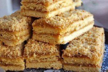 Рецепт прекрасного песочного пирожного с повидлом. Как в детстве 1