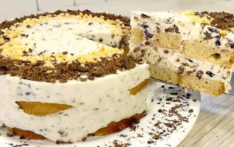Торт «Березка» без печенья и выпечки 1
