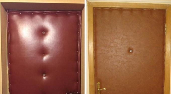Для чего люди в СССР обивали кожей или дерматином входные двери своих квартир 1