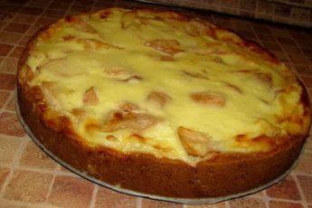 Яблочный пирог на кефире, вкуснее чем шарлотка. Мало теста и так много начинки!