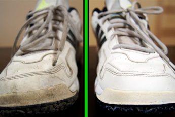 Как легко отбелить белые кроссовки, грязную подошву от желтизны за 10 минут