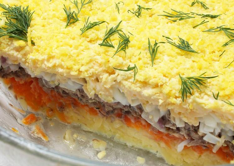 Любимый салат «Мимоза» по маминому рецепту