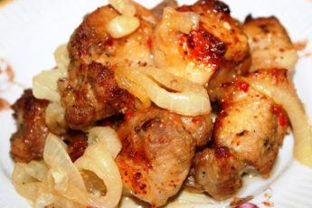 Проверенный рецепт вкусного шашлыка в духовке на «луковой подушке»