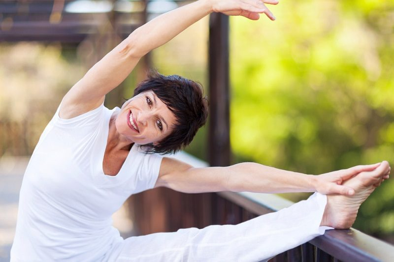 middle-aged-woman-stretching